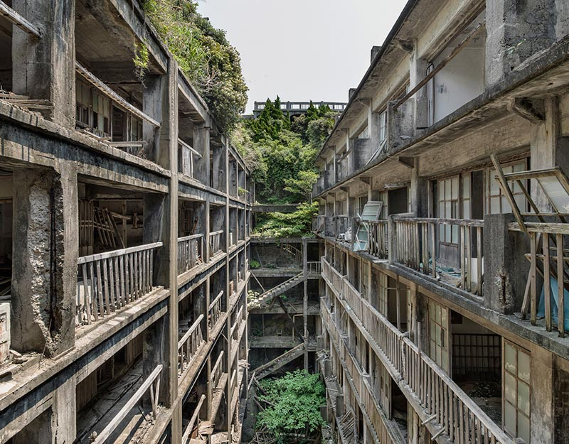 Hashima Island Photographs by Andrew Meredith Photography - Passages and Walkways Photograph 7