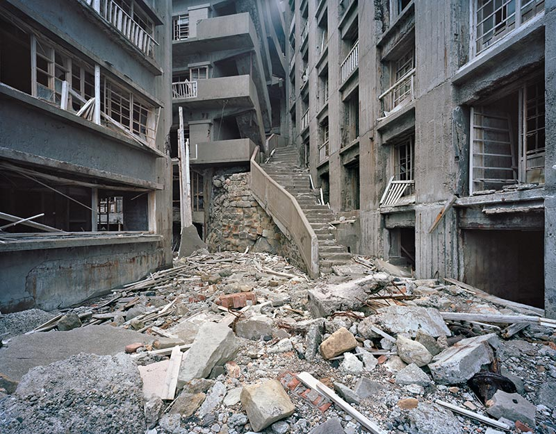 Hashima Island Photographs by Andrew Meredith Photography - Passages and Walkways Photograph 20