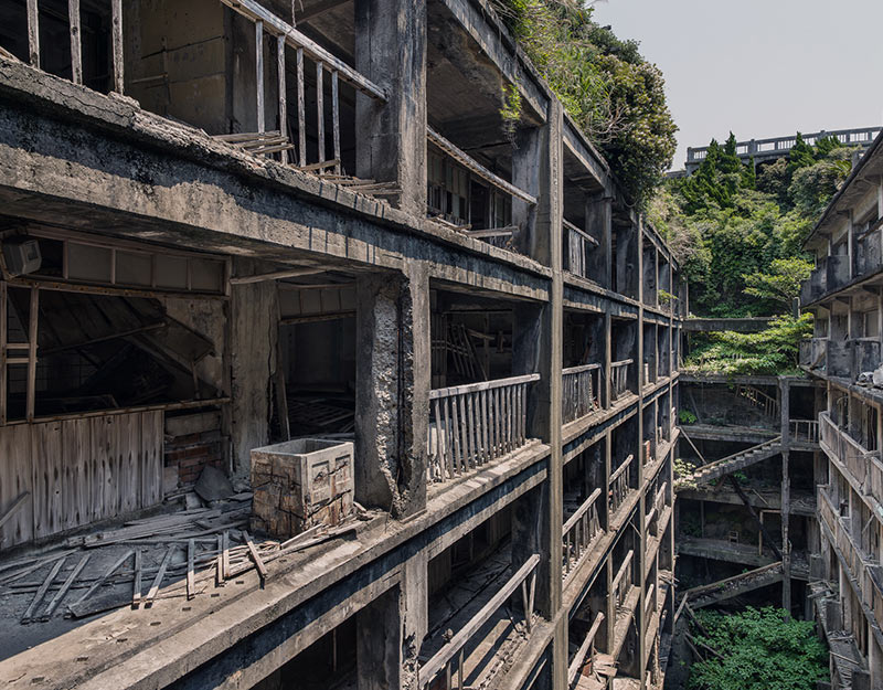 Hashima Island Photographs by Andrew Meredith Photography - Passages and Walkways Photograph 25